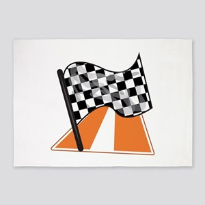 Race Flag 5'x7'Area Rug